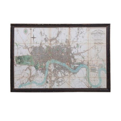 Large Framed River Thames Map